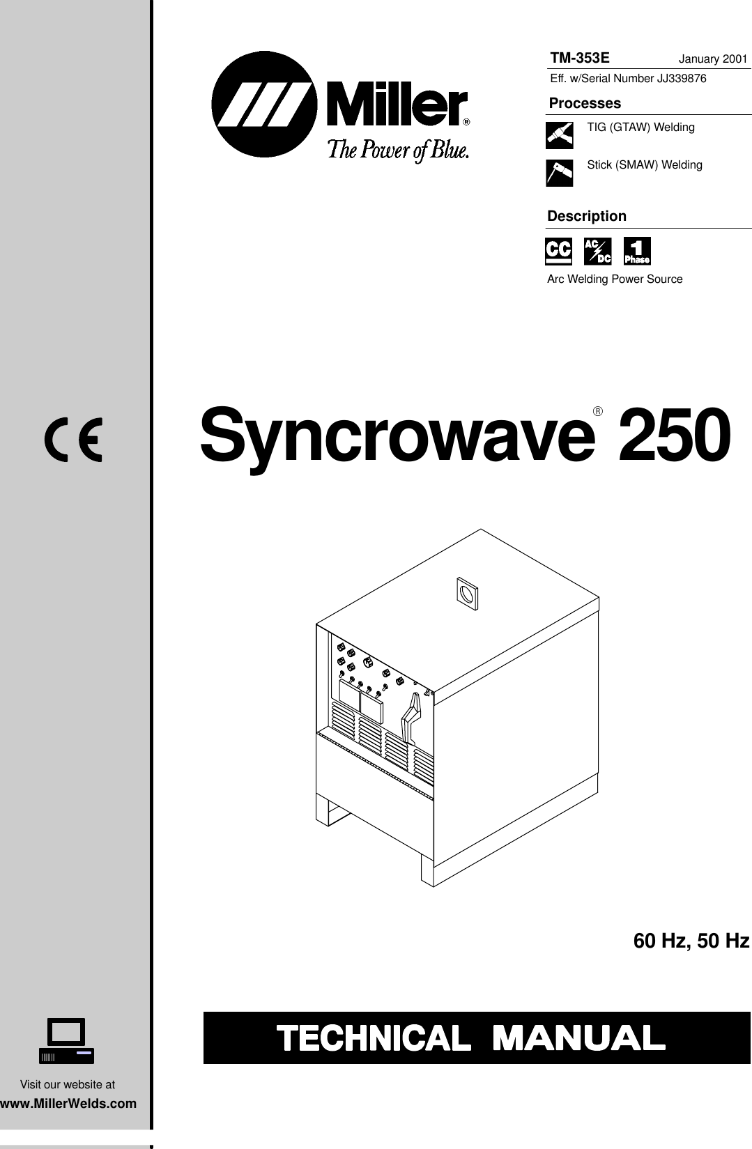 Miller Electric Syncrowave 250 Technical Manual Manualslib Makes It 6 Pin Plug Wiring Diagram Easy To Find Manuals Online