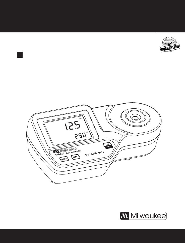 MA871 Milwaukee MA871 Digital Brix contenu Réfractomètre