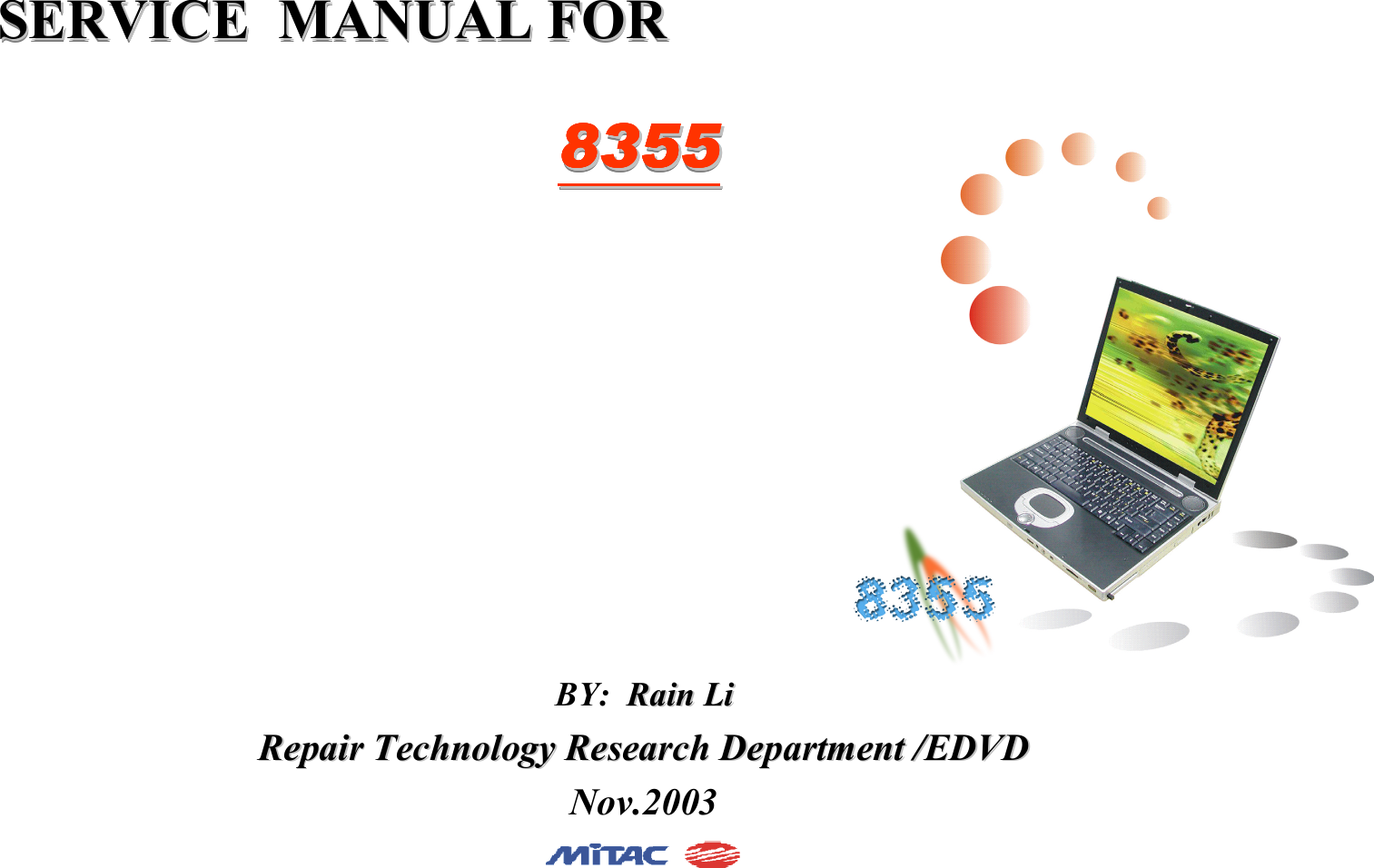 Mitac 8355 Users Manual Microsoft Vga 256mb 128bit D2 D3