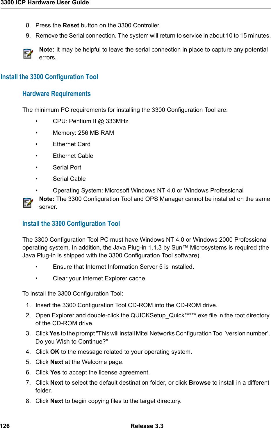 Mitel 3300 Users Manual Hardware