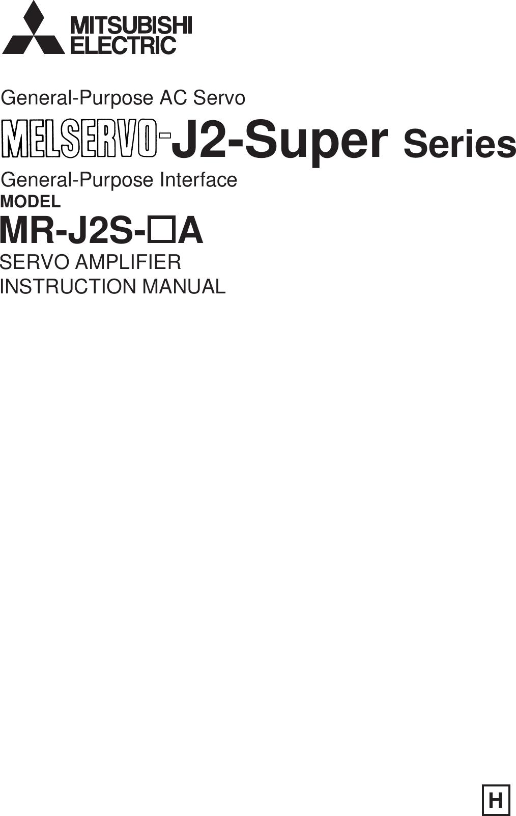 Mitsubishi Electronics Melservo Mr J2s A Users Manual Motor Pwm Speed Control Circuit Controlcircuit Diagram