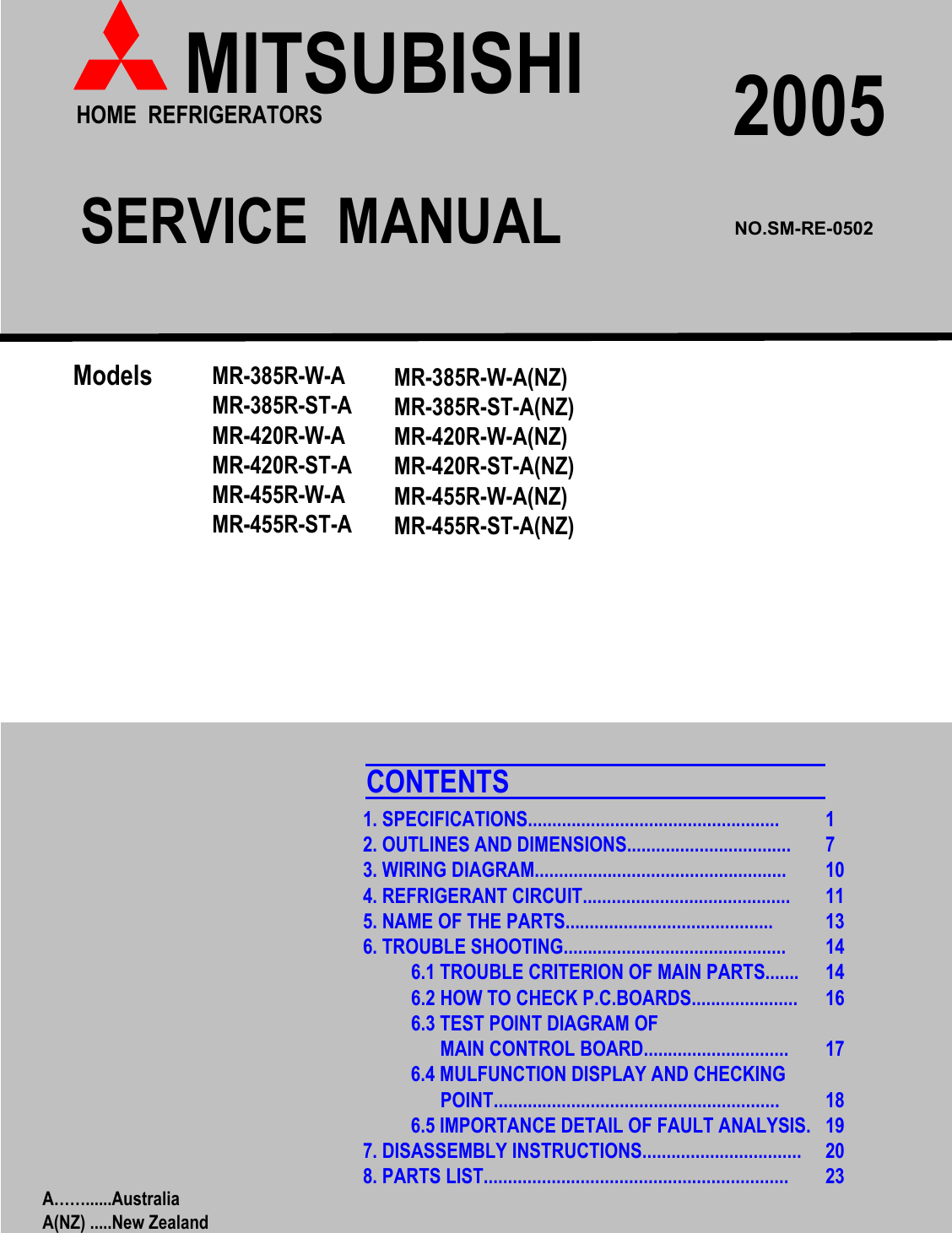 Strange Mitsubishi Electronics Mr 385R St A Users Manual 385R 420R 455R A A Nz Wiring Digital Resources Zidurslowmaporg