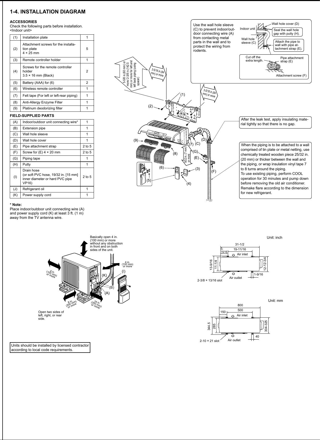 Mitsubishi Electronics Msz Fd09 12na Users Manual Jg79a015h01 En Wiring Diagram Page 3 Of 8