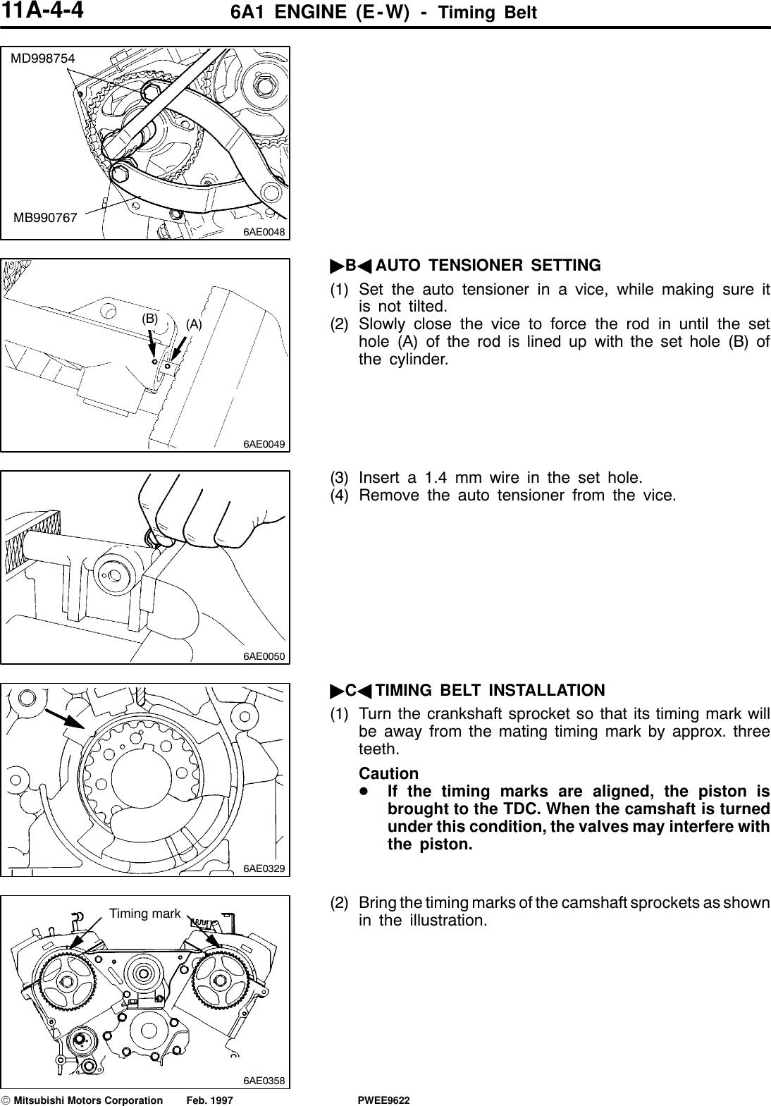 Mitsubishi 6A1 Users Manual ENGINE Workshop 6A1(E W)