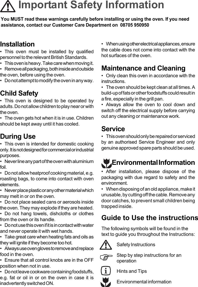 Moffat Msf 610 Users Manual
