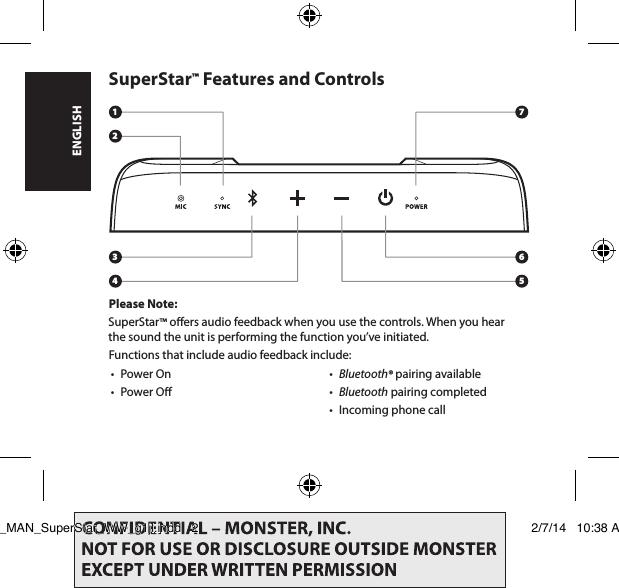 Monster 191011-00 SuperStar User Manual