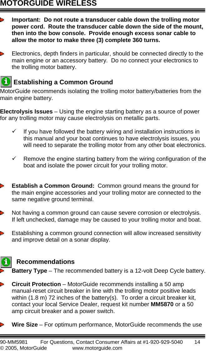 MotorGuide FP01 Remote Control Transmitter User Manual Manual