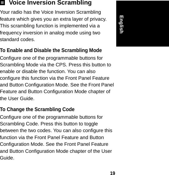 Motorola Solutions 89FT4885 PORTABLE 2-WAY RADIO User Manual