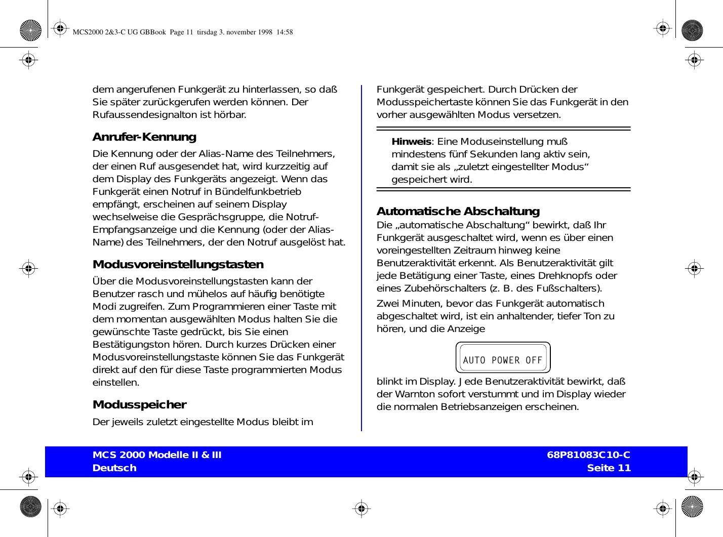 Motorola 68p81083c10 C Users Manual Mcs2000 23 Ug Gbbook