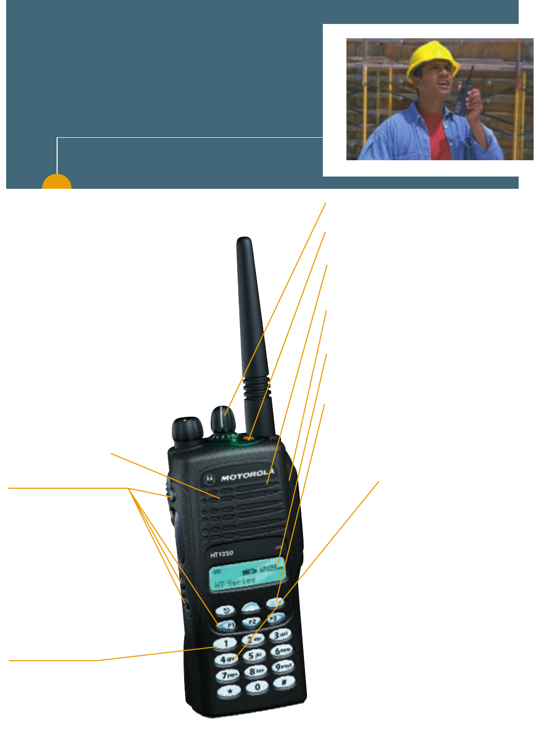 Stored Voice option board for Motorola HT1250 AAHLN9725C
