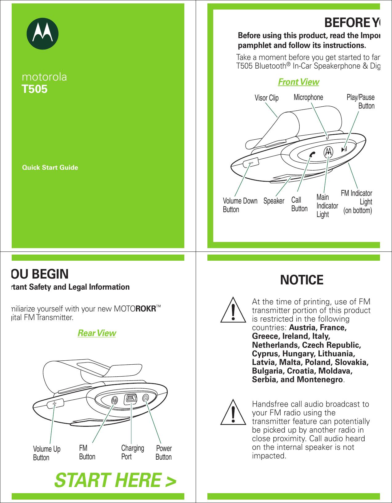 motorola motorokr t505 users manual rh usermanual wiki Motorola T505 Pairing Mode Motorola T5300