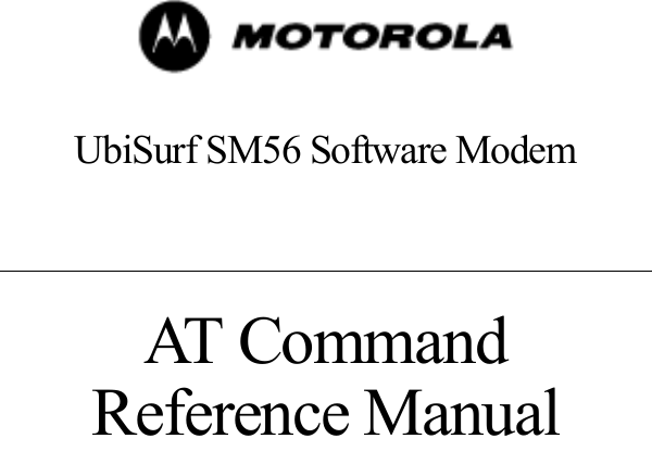 MOTOROLA UBISURF SM56 DRIVER UPDATE