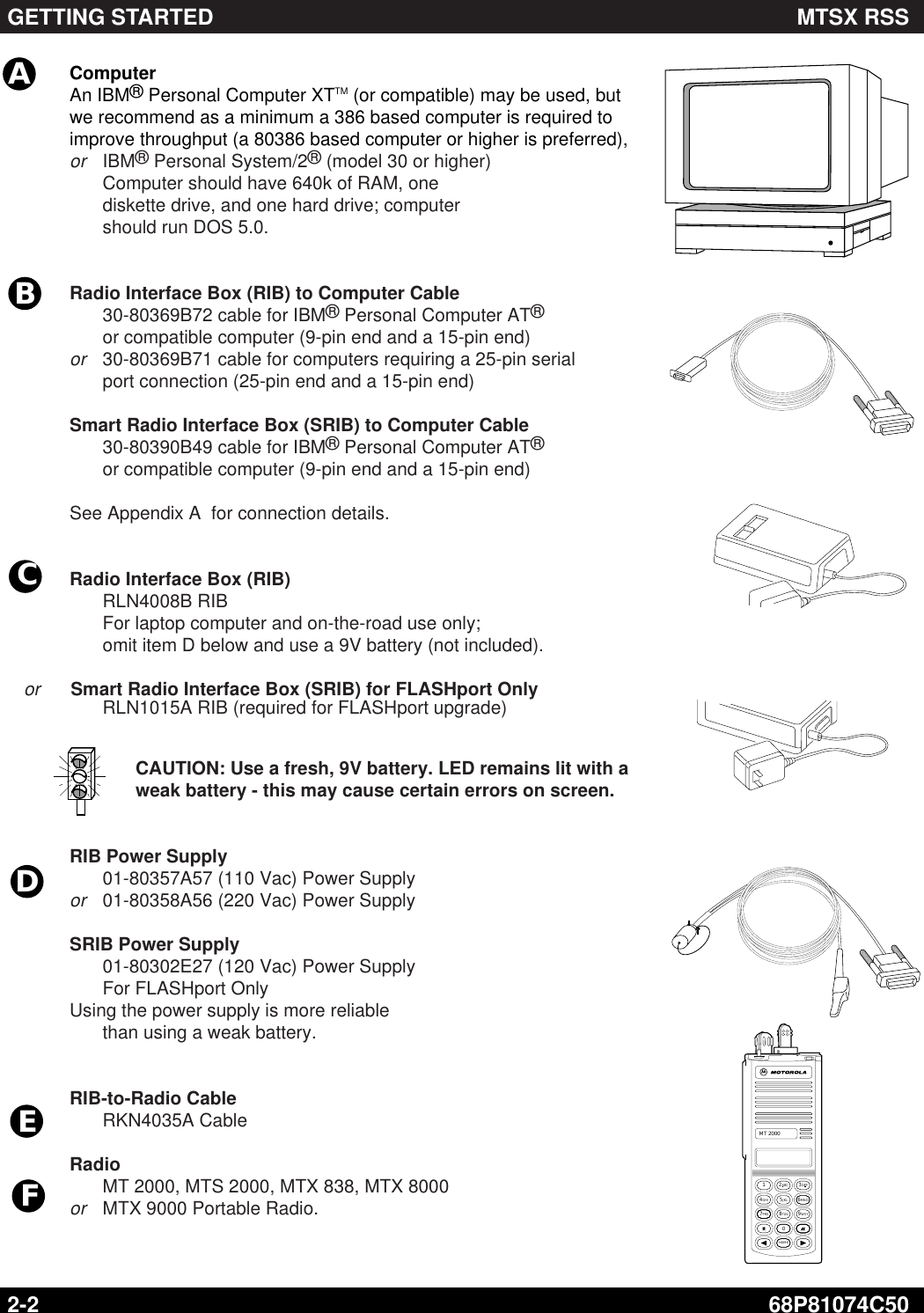 Motorola Two Way Radio Mt2000 Users Manual 74C50 J MT 2000