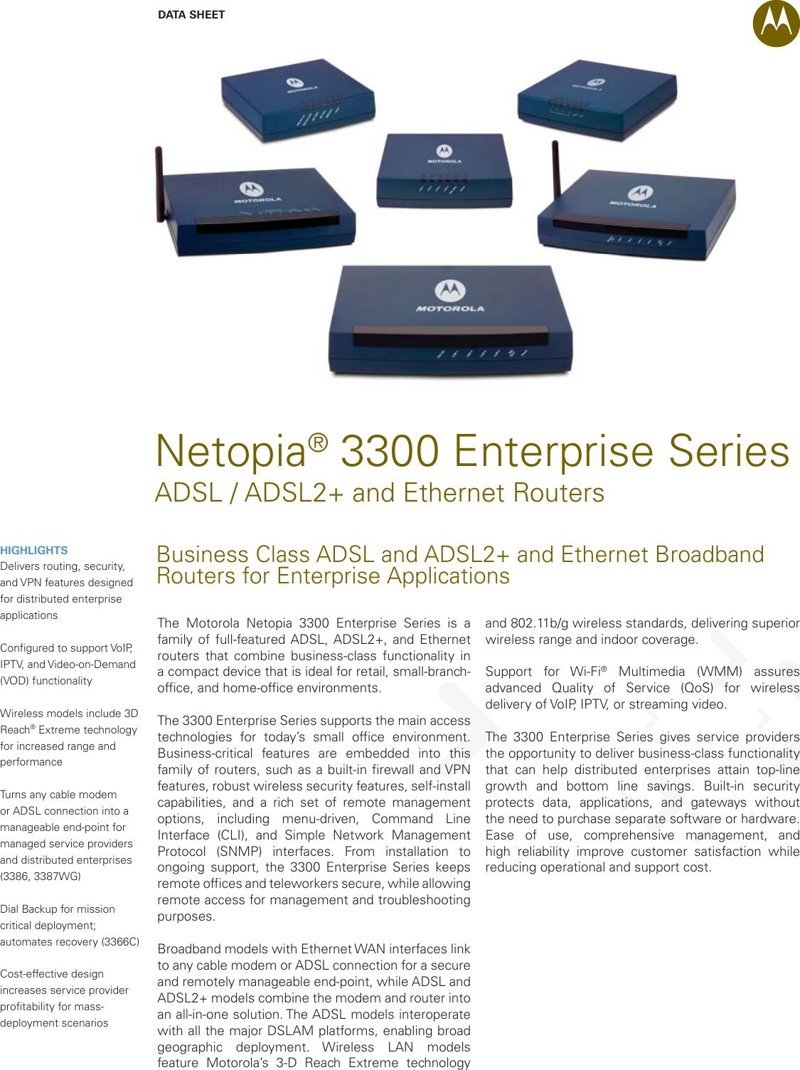 motorola netopia 3300 users manual enterprise series adsl2 routers us rh usermanual wiki Netopia 3000 Netopia Rabat