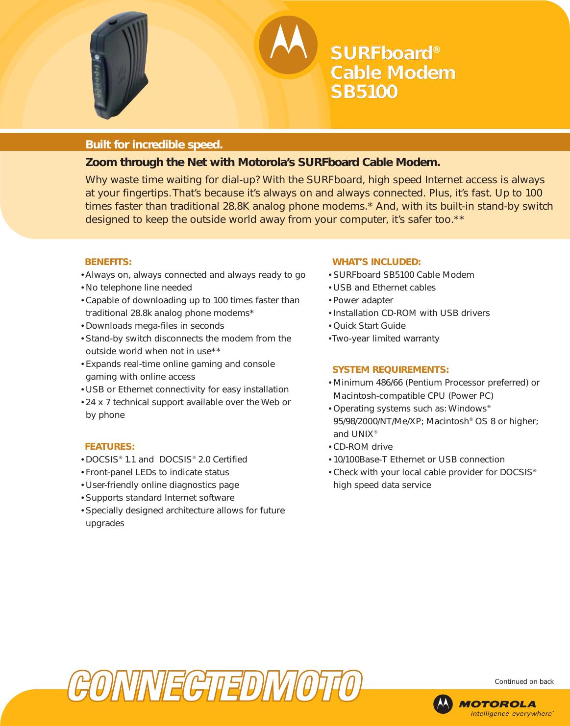 Motorola surfboard sb5100 download user guide for free 3e6a8.