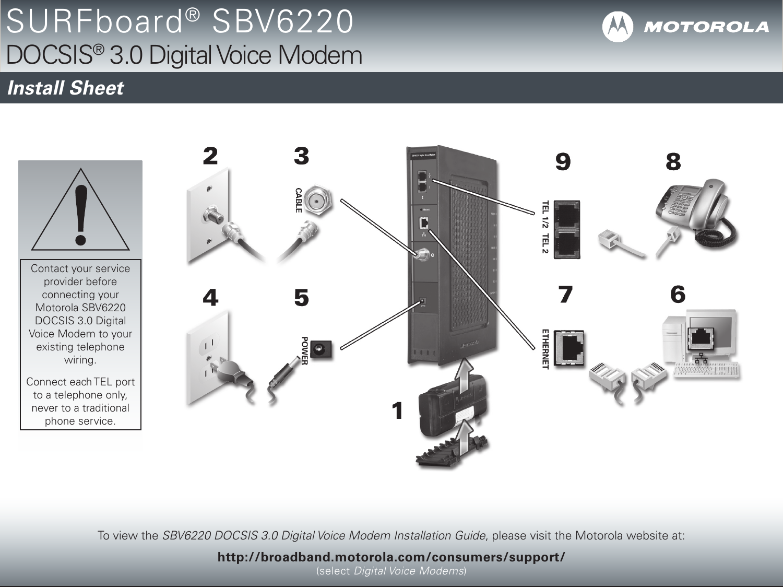 Motorola Ethernet Wiring Diagram Detailed Schematics Modem Surfboard Sbv6220 Users Manual Printable