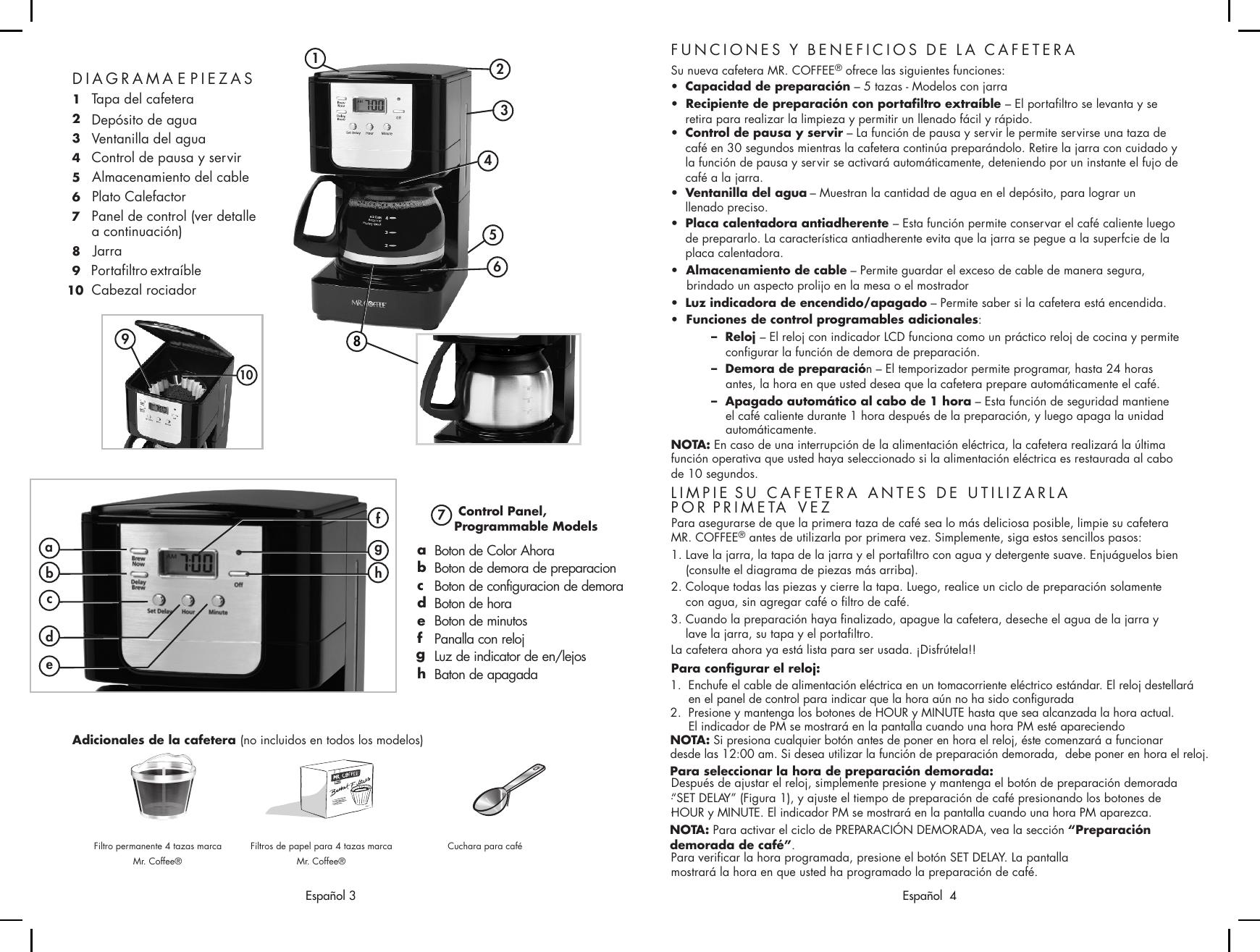 Mrcoffee Jwx3 Users Manual JWX 9 IB