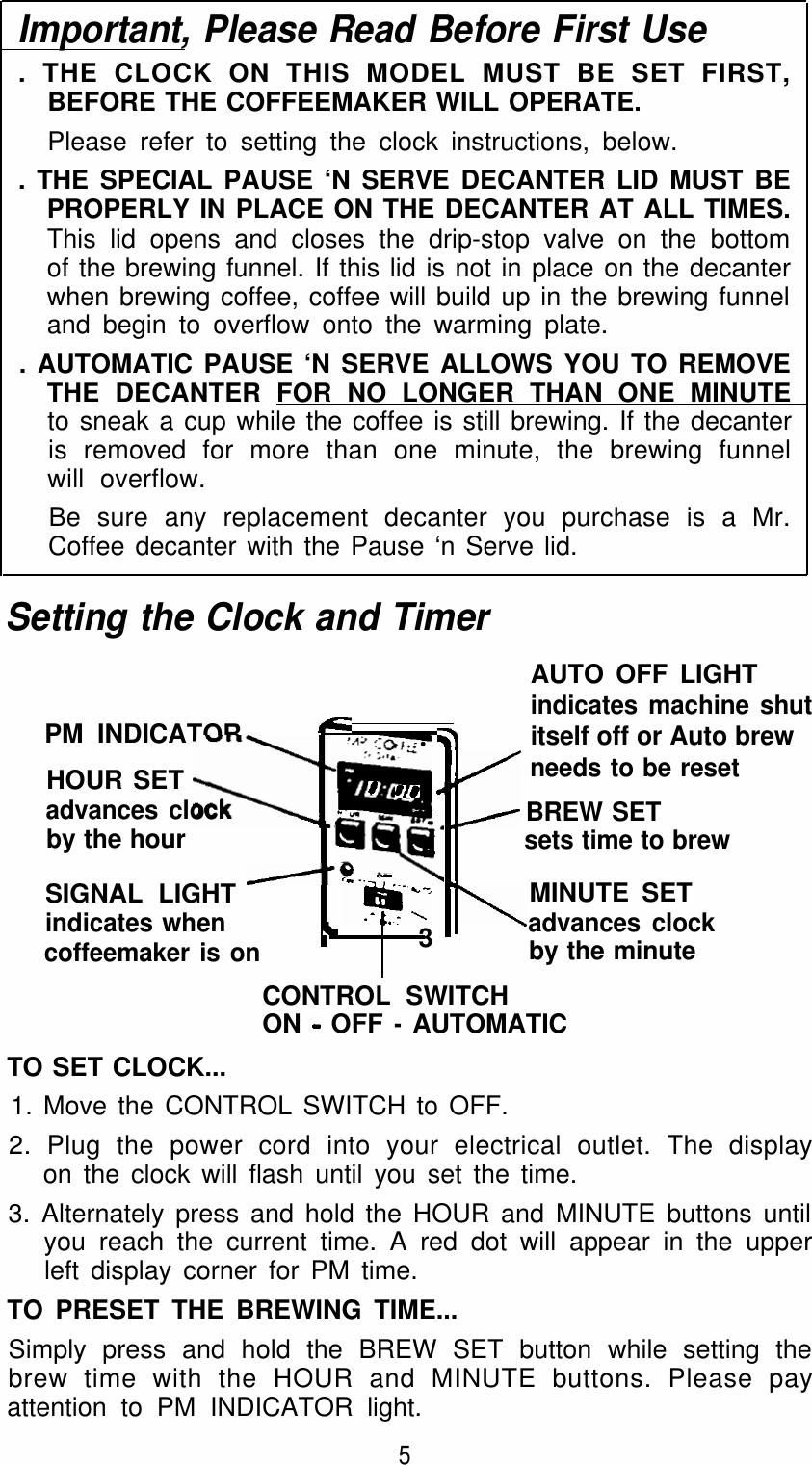 Mrcoffee Srx20 Users Manual 23