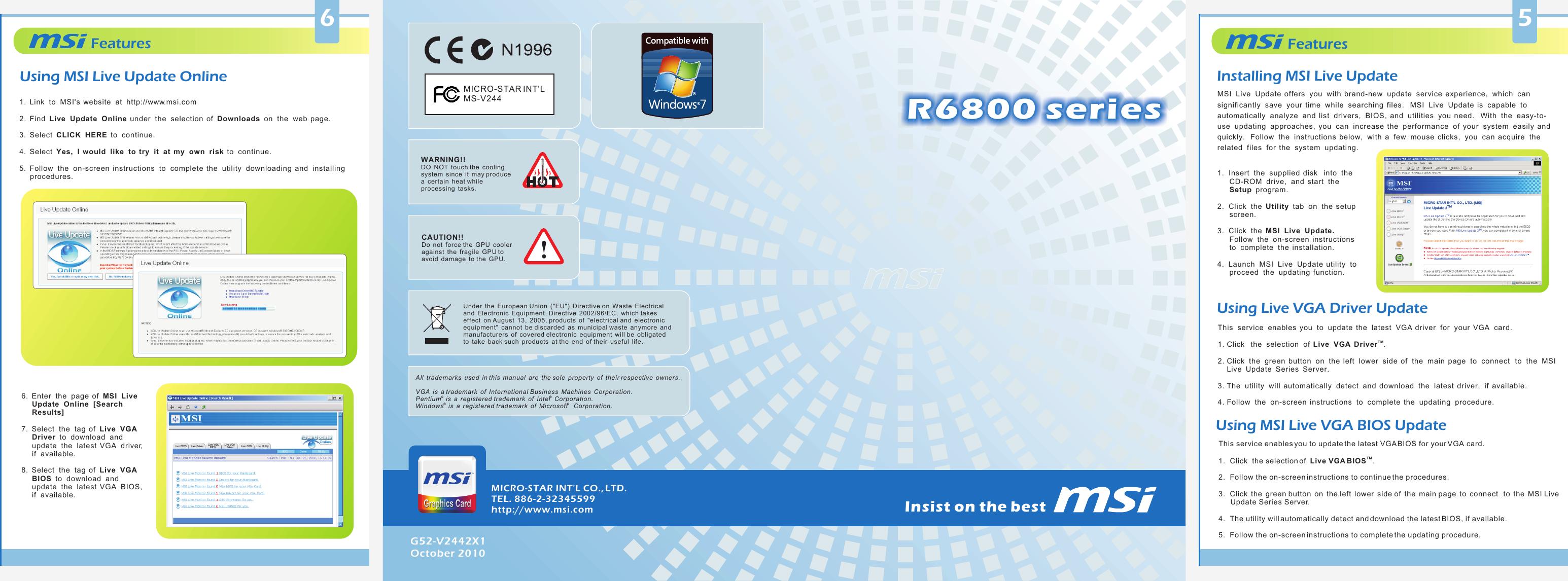 Msi R6850 Cyclone Pe Oc Owner S Manual V244(R6800_series_lite)(G52