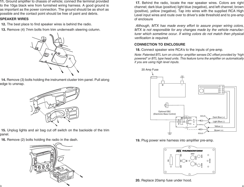 mtx audio thunderform users manual chevy s 10 reg cab (21a7240) thunderform box page 4 of 4 mtx audio mtx audio thunderform users