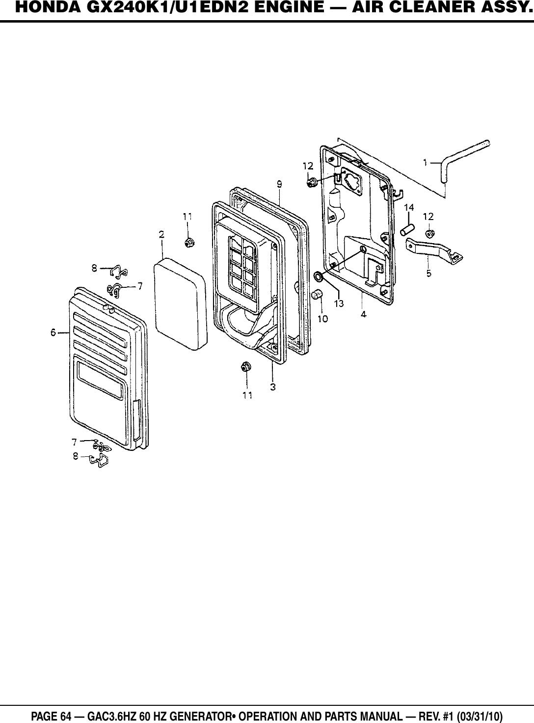 Multiquip Gac3 6Hz Users Manual on