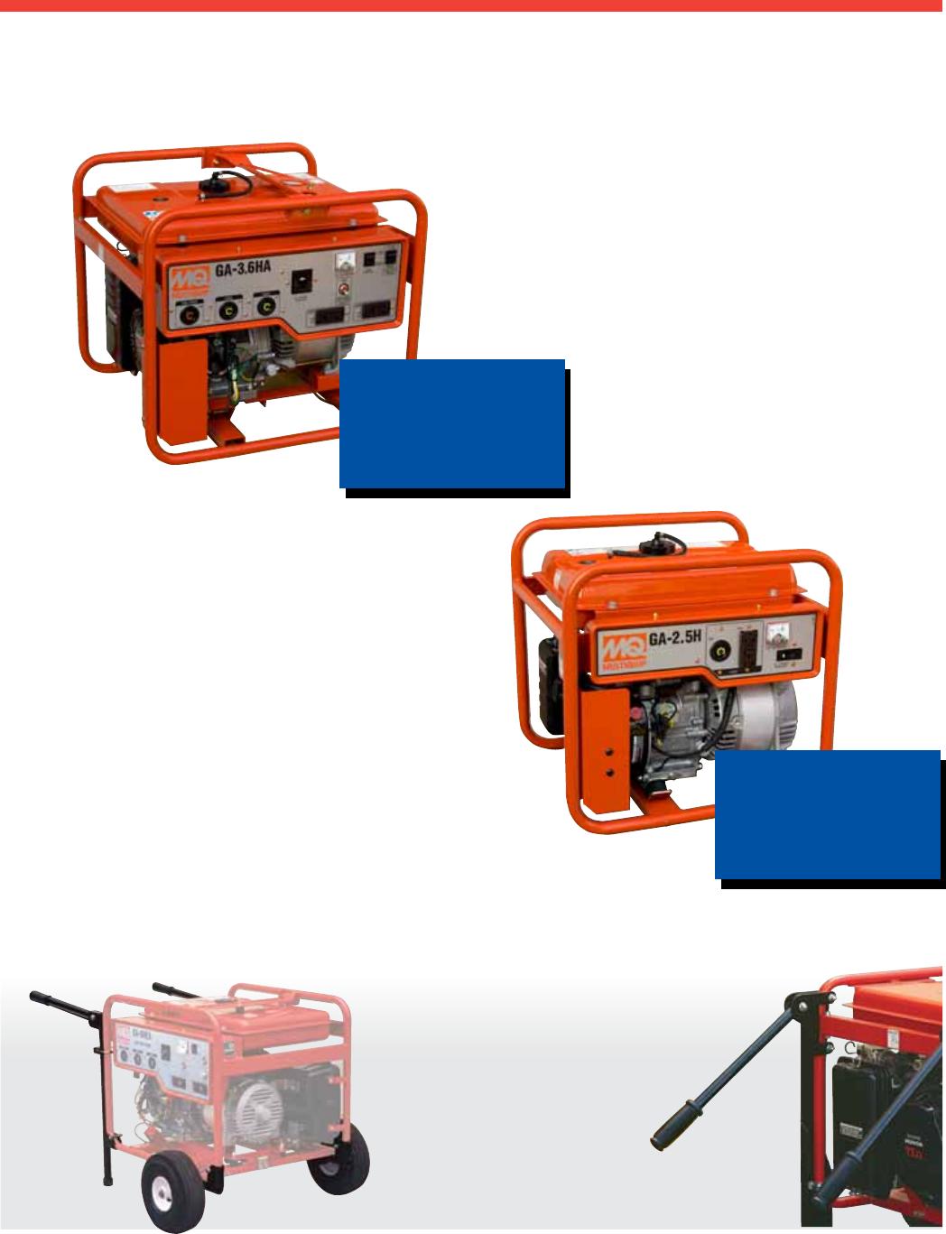 Multiquip Generators And Welders 3 6Kw Through 9 7Kw s Users ... on