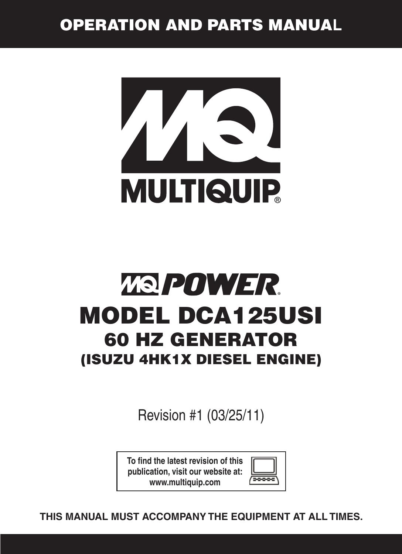 multiquip mq power 60 hz generator dca125usi users manual dca 125usi_60 rev  1  usermanual.wiki
