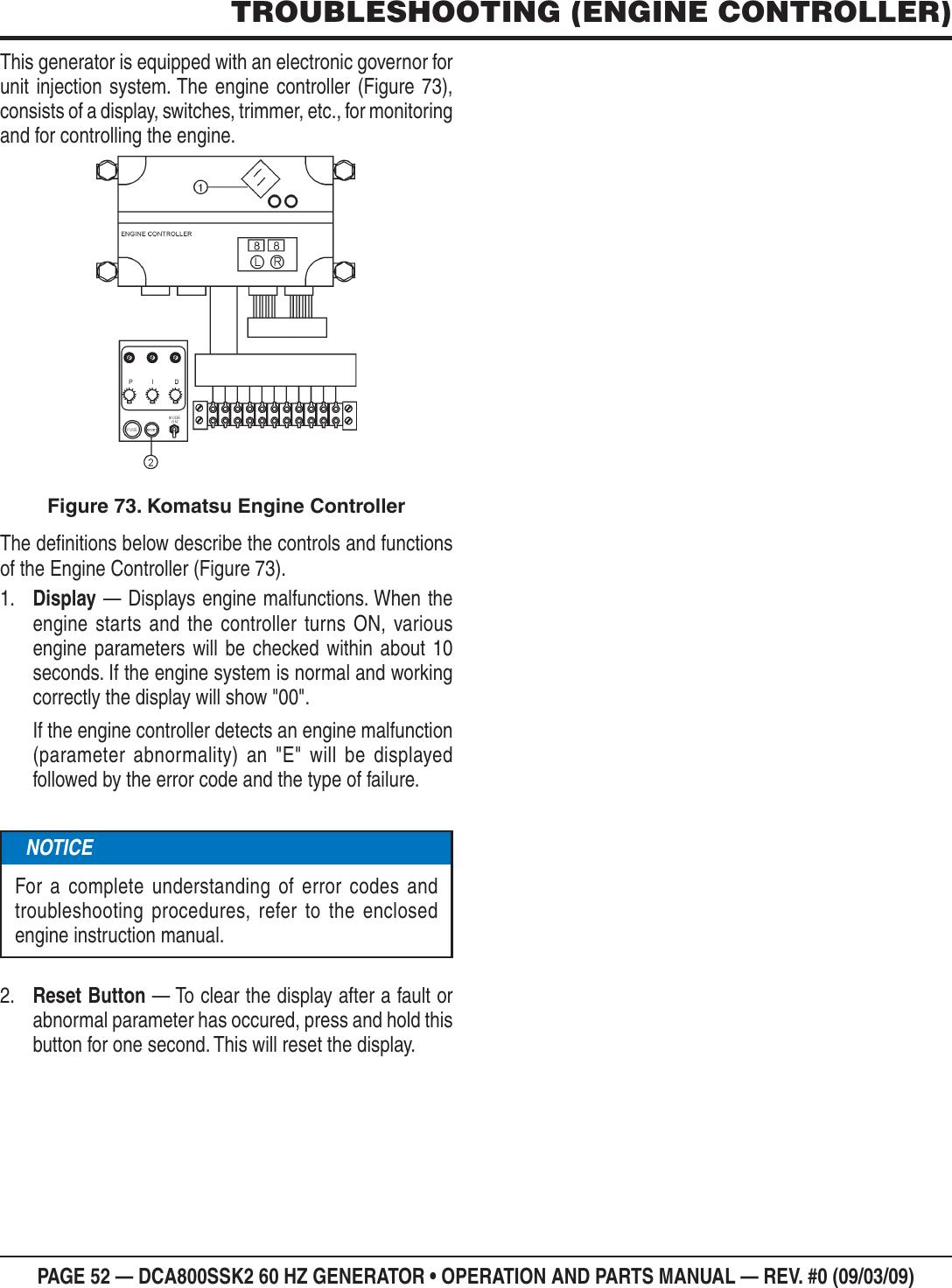 Multiquip Mq Power Whisperwatt Series 60Hz Generator Std Komatsu