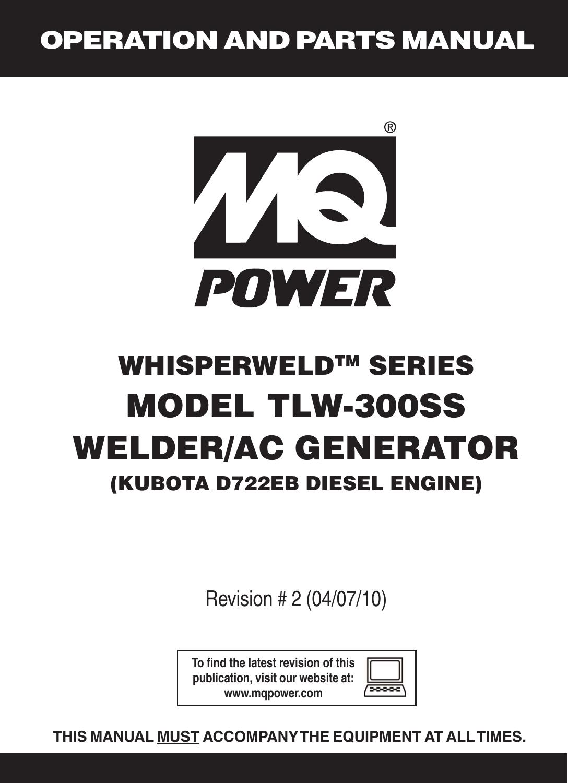 multiquip mq power whisperweld welder ac generator tlw