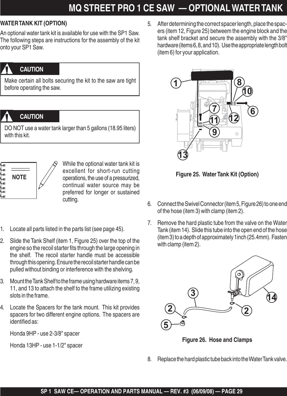 Multiquip Pole Saw Sp1Ce13H18 Users Manual SP1 CE Rev 2 PMD