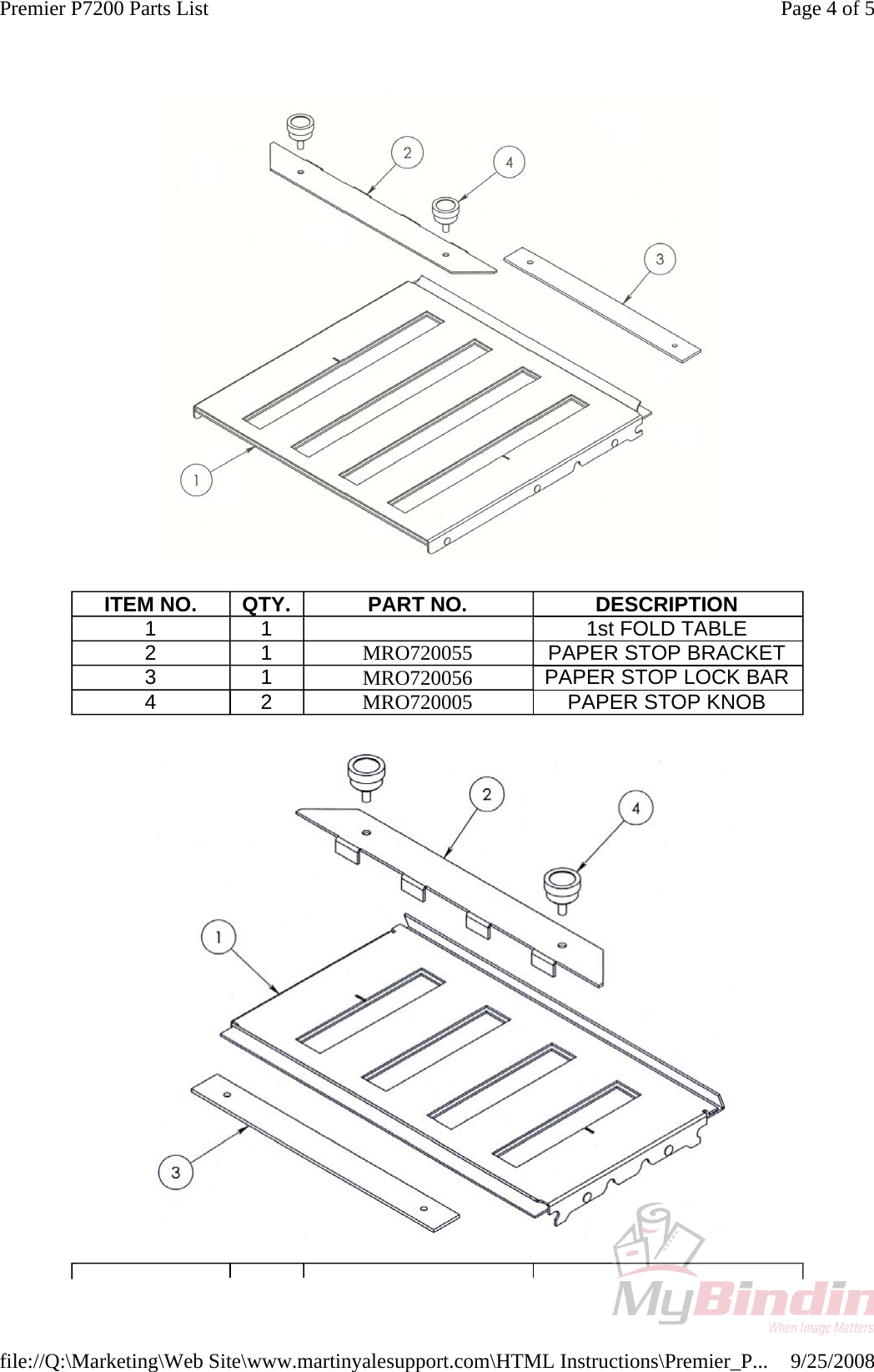 martin yale parts manuals