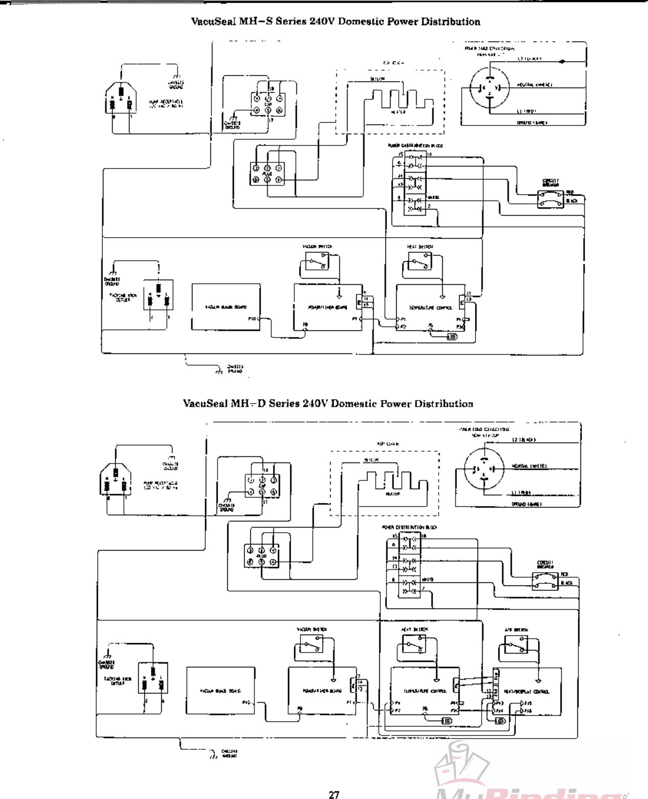 MyBinding Vacuseal Mhd Mhs Wiring User Manual Vacu Seal
