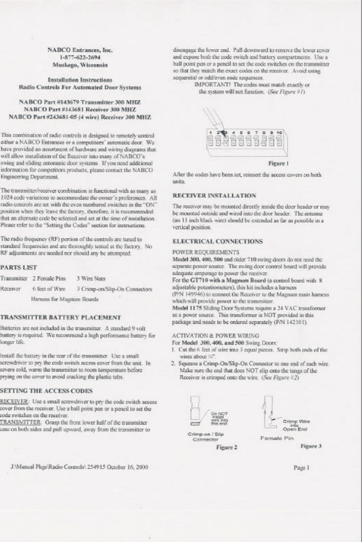 Nabco Entrances 226038 Remote Control Door Opener User Manual 3 Transmitterreceiverradiocontrolschematicdiagrampng