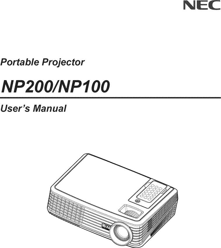 Nec Np200 Service Manual