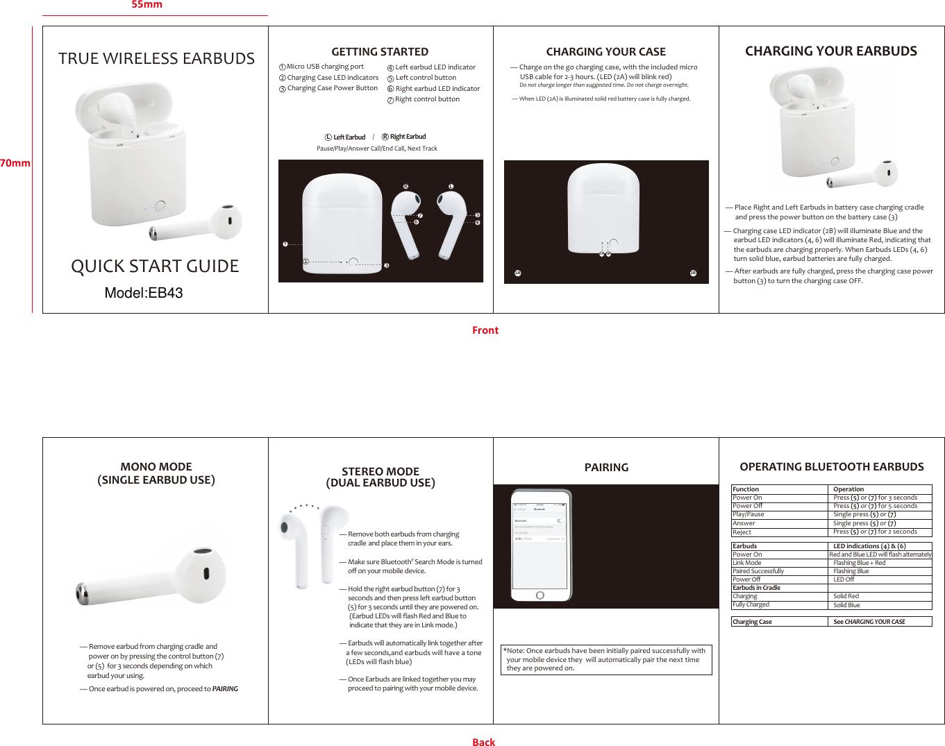 billboard wireless earbuds user manual model bb1834