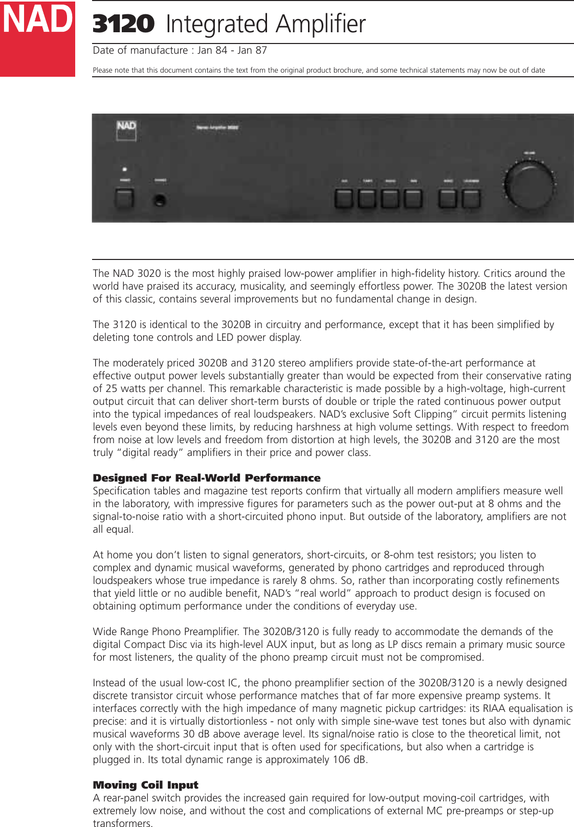 Nad Electronics 3120 Users Manual Shortcircuit Measurement Circuit Of The Coil Measuringandtest