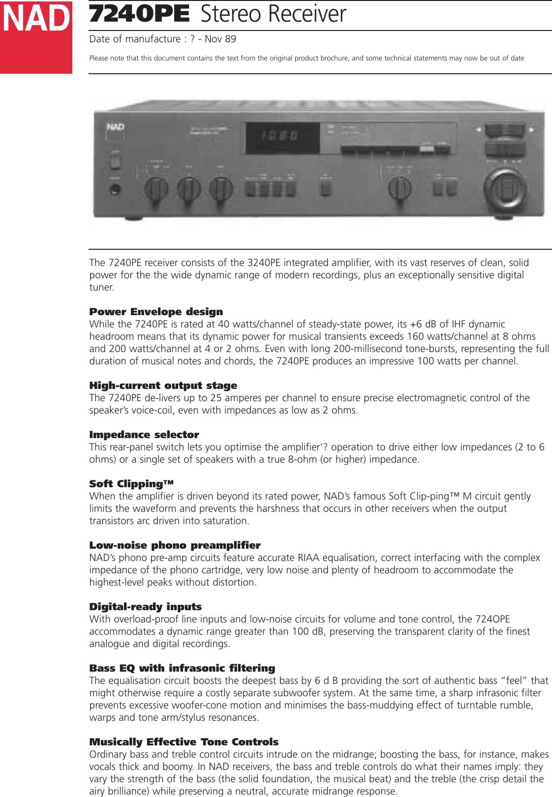 Nad 7240Pe Users Manual 7240