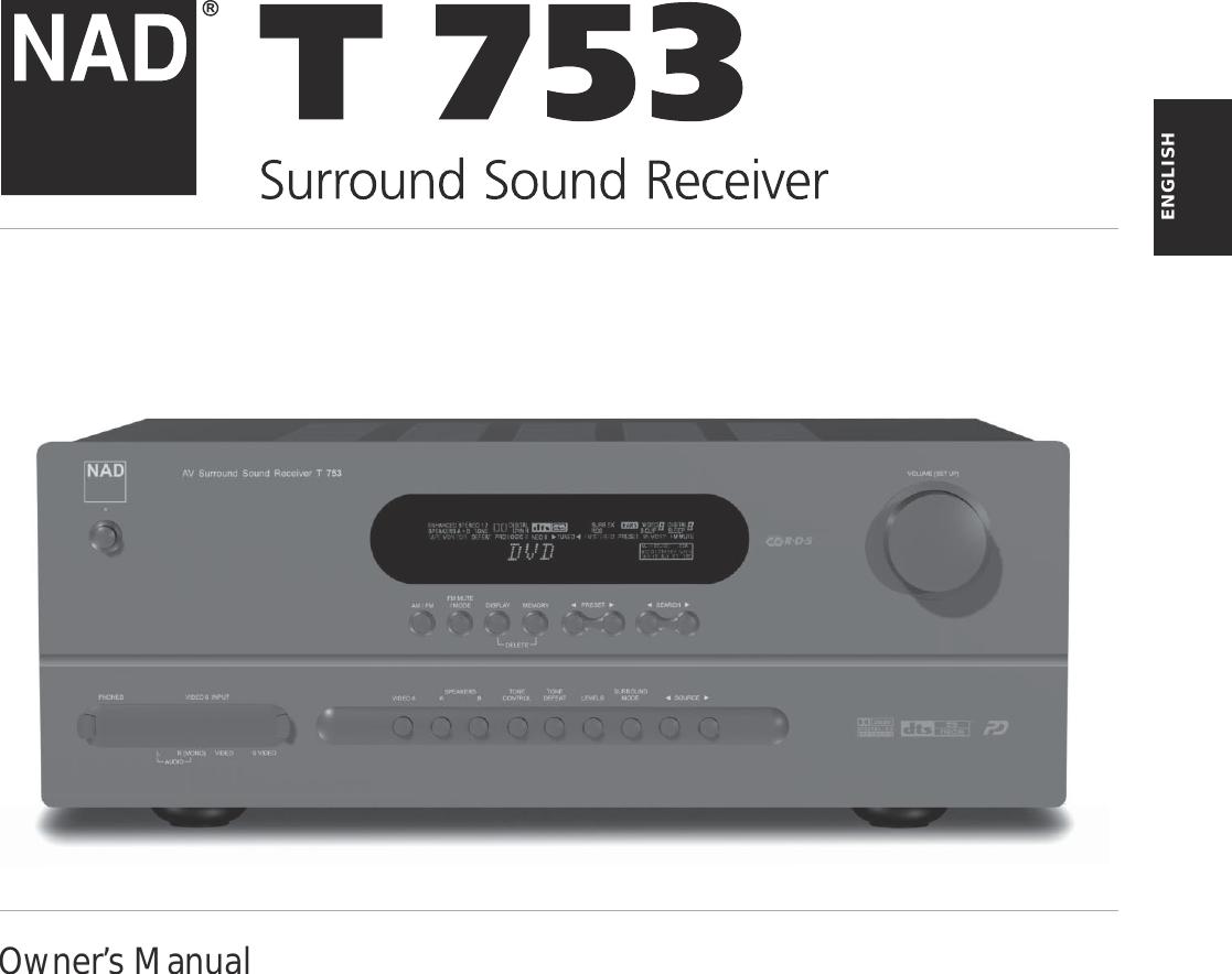 nad t 753 users manual t762 om gb rh usermanual wiki nad t753 owners manual nad t753 owners manual