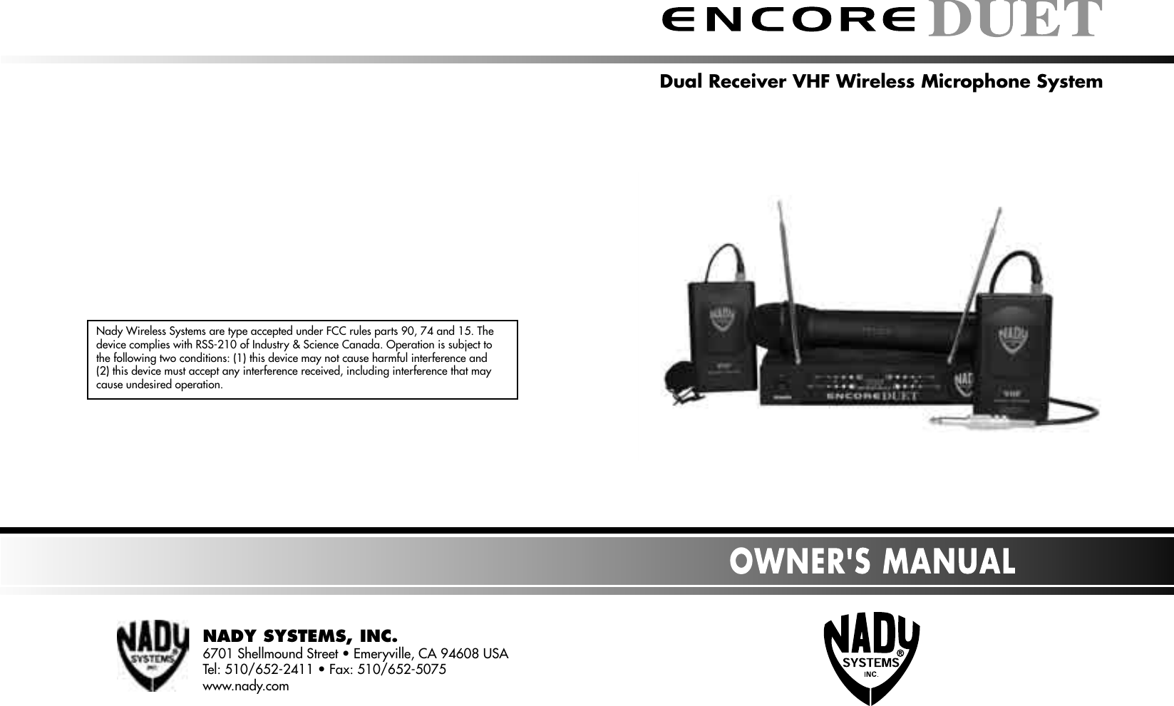 Nady Systems Encore Duet Users Manual 3 Guitar Wiring Diagram
