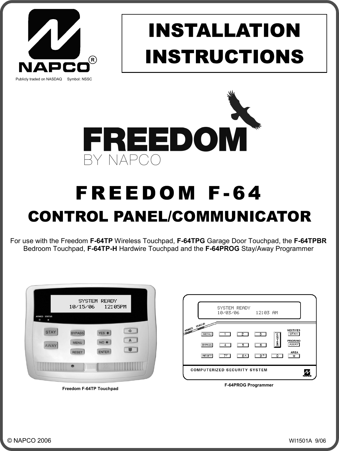 Napco security technologies wi1501a users manual afreedom for Gemini garage door motor manual