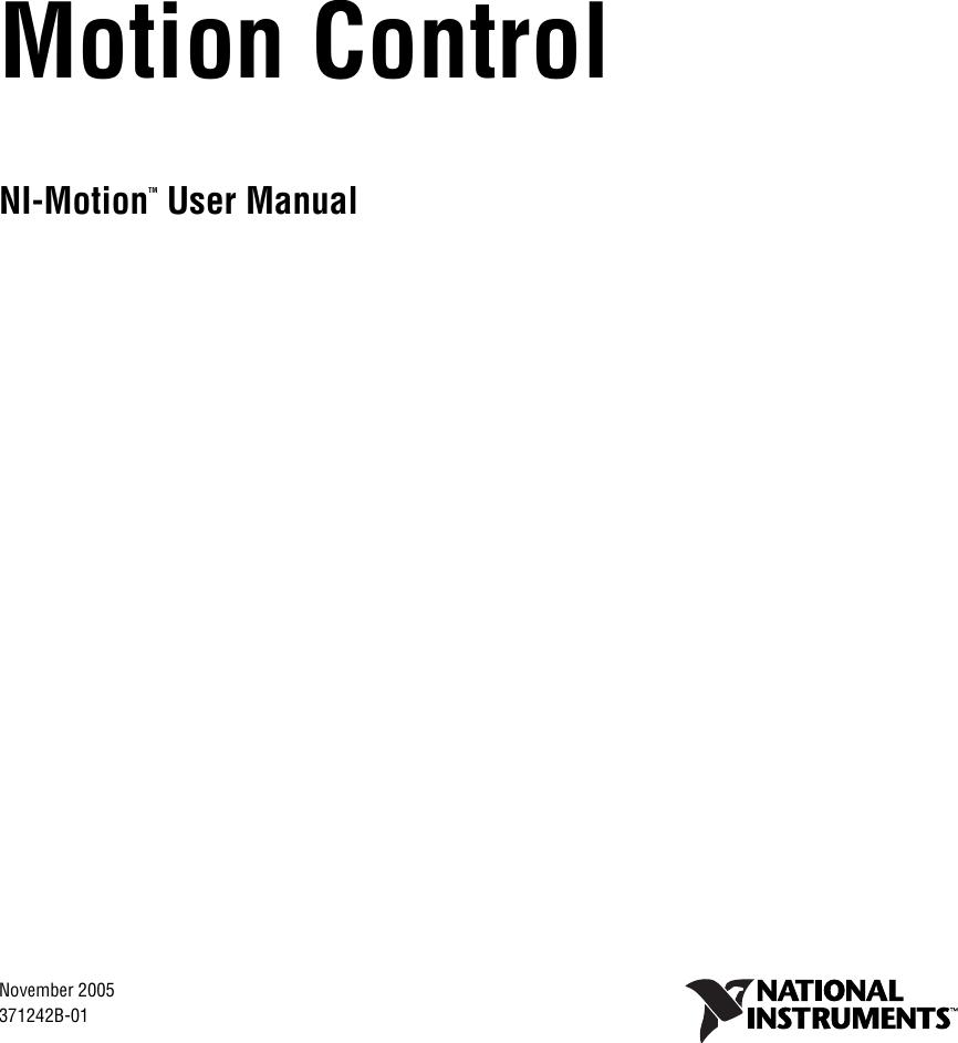 national instruments ni motion users manual um rh usermanual wiki Operators Manual Manuals in PDF