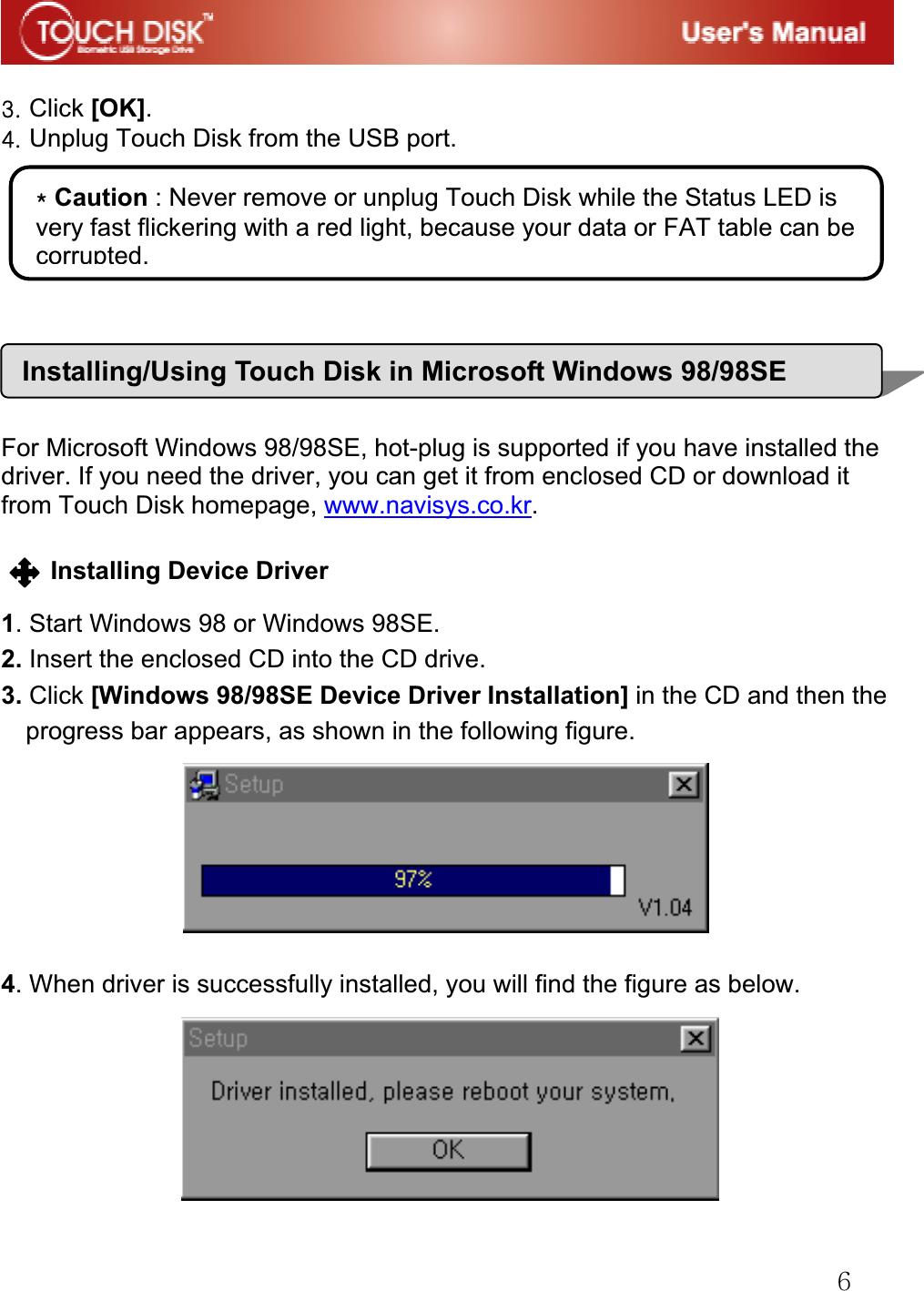 Navi NAVI USB Storage Device Using Fingerprint User Manual