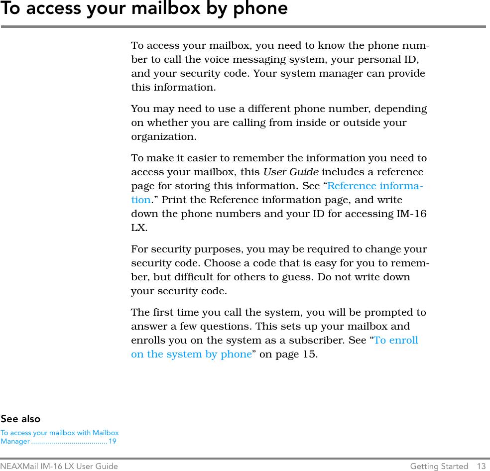 Nec Phone Security Code