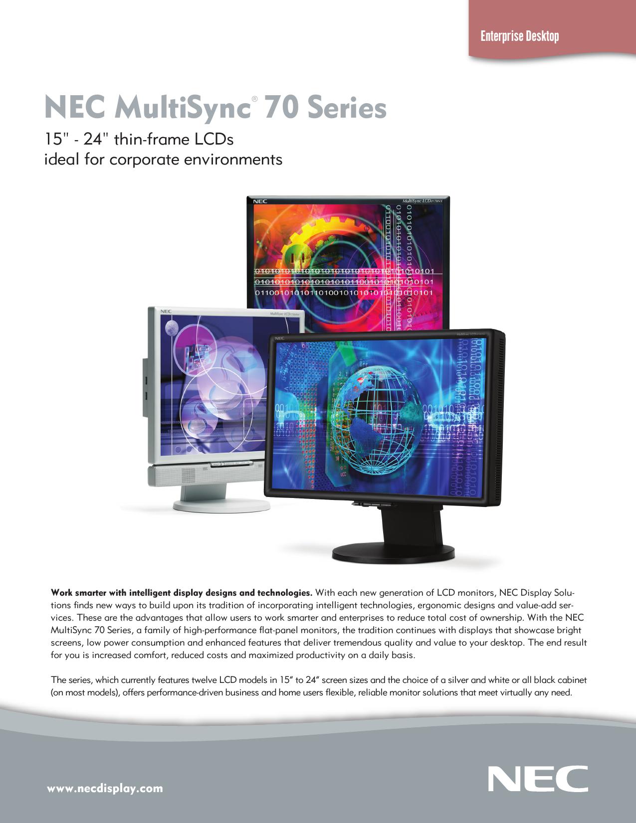 NEC MULTISYNC LCD2070NX DRIVER WINDOWS XP