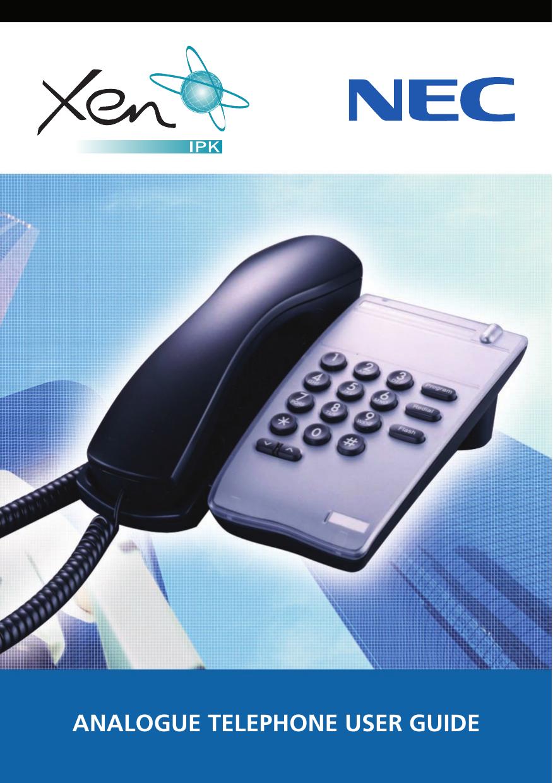 nec xen ipk analogue telephone users manual 80685 bu rh usermanual wiki Westinghouse TV Manual Sharp Remote Control Manual