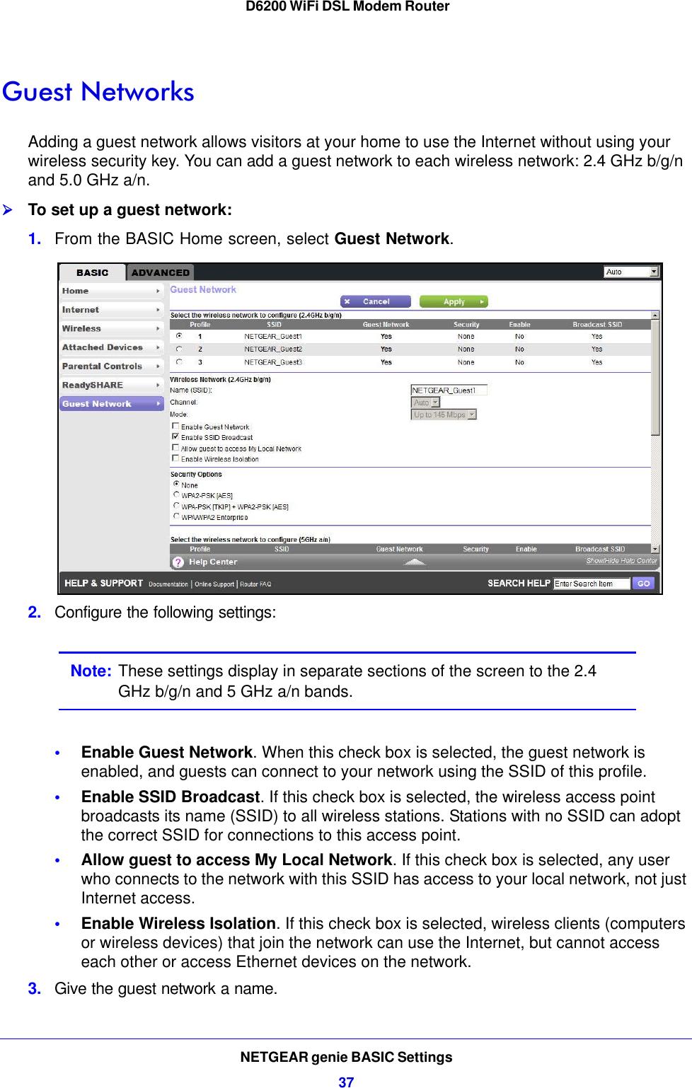 Netgear D6200 Wireless Modem Router 100Nas Users Manual WiFi