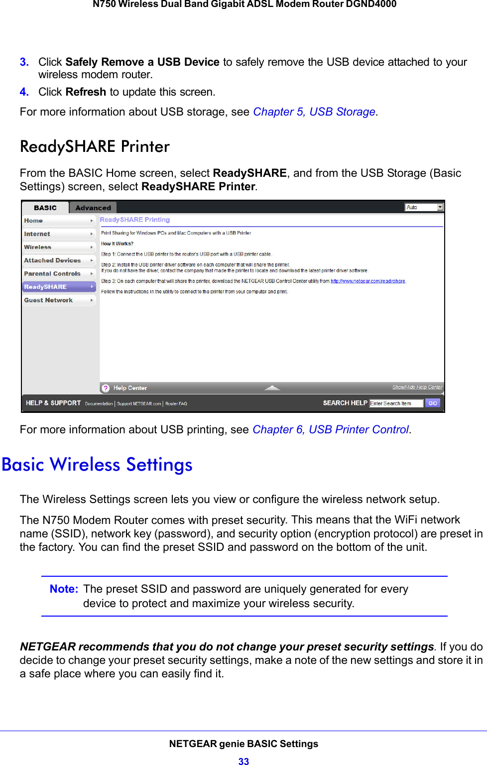 Netgear Dgnd4000 Owner S Manual N750 Wireless Dual Band