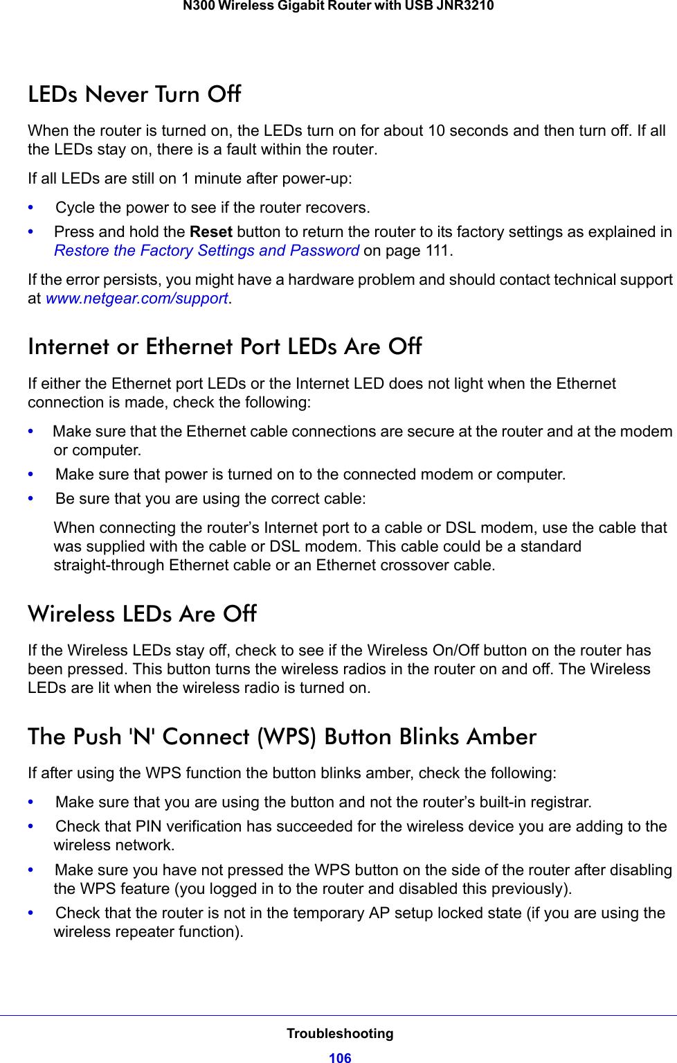 Netgear Jnr3210 Owner S Manual N300 Wireless Gigabit Router