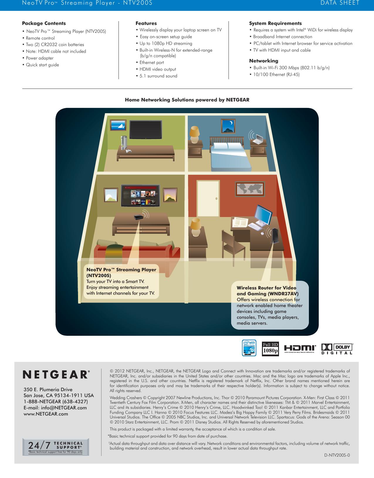 Netgear Ntv200S Data Sheet NTV200S_DS_20Apr12