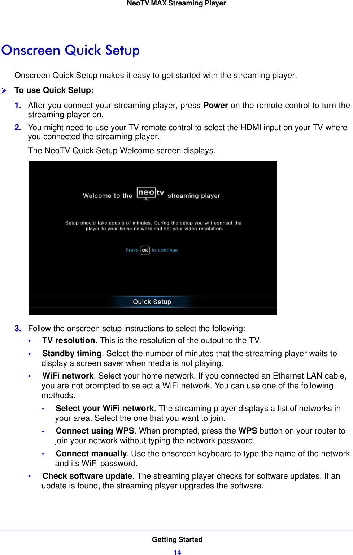 Netgear Ntv300Sl User Guide NeoTV MAX Streaming Player Manual